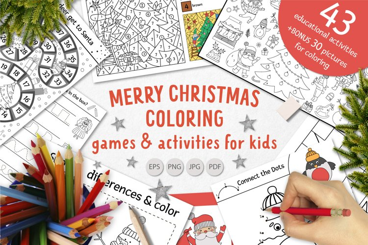 Merry Christmas Coloring Games example image 1