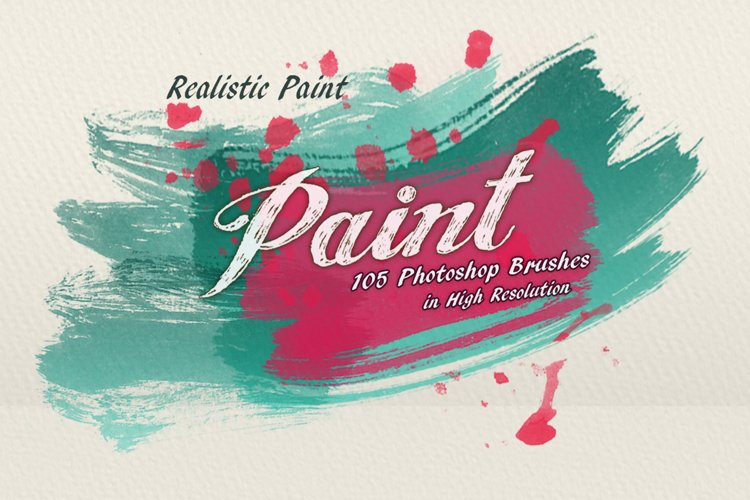 105 Realistic Paint PS Brushes ABR.
