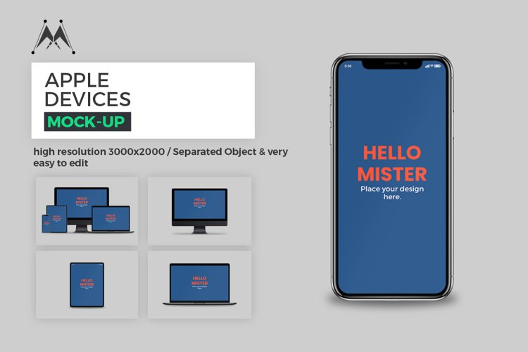 Apple Devices Mock-Up Set