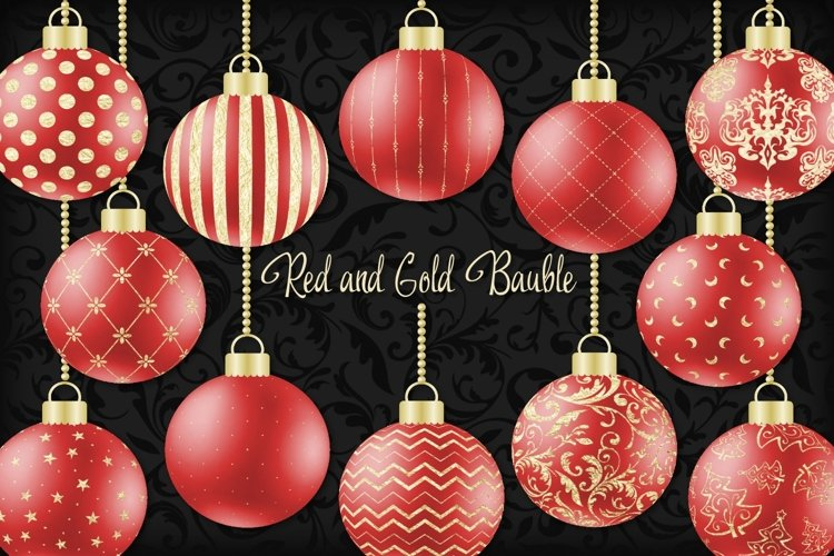 Red and Gold Christmas Bauble
