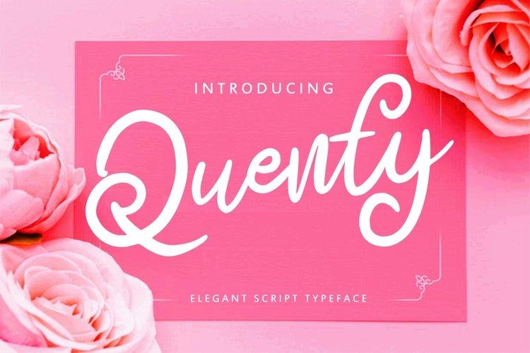 Quenty - Elegant Script Typeface example image 1