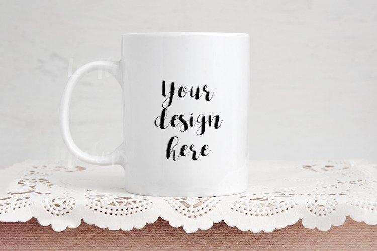Coffee mug mockup, rose gold mock up , psd cup template example image 1