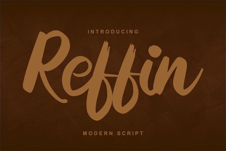 Reffin | Modern Script Font example image 1