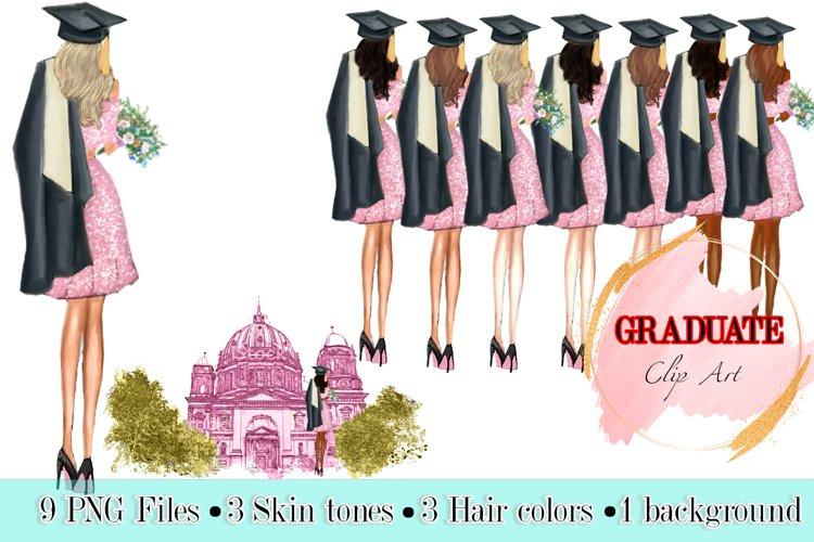 Graduation Clipart, Graduation illustration, Fashion Girls