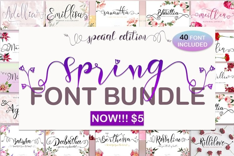 Spring Font Bundle example image 1