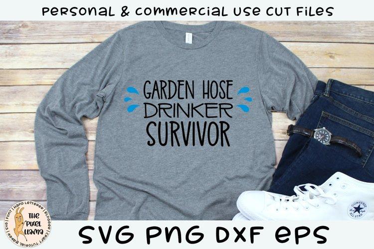 Garden Hose Drinker Survivor SVG Cut File