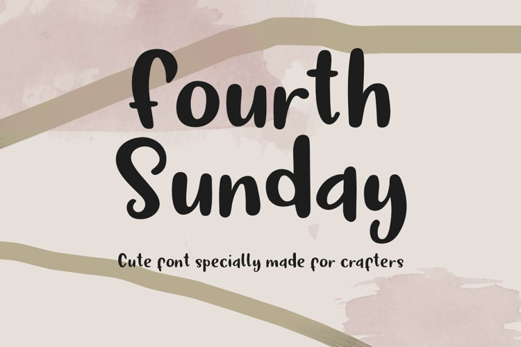 Fourth Sunday Cute Font for Crafts example image 1