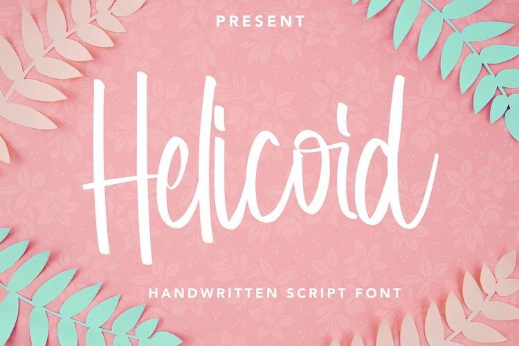 Helicoid - Handwritten Script Font example image 1