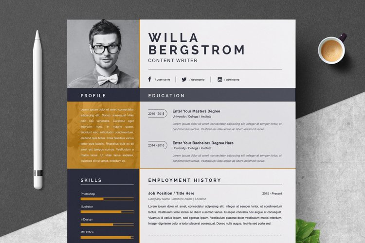 Resume Template | Modern & Professional Resume Template example image 1