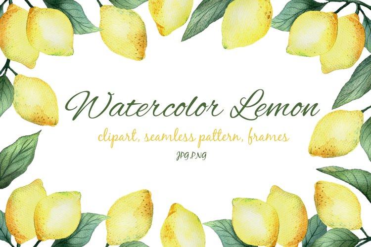 Watercolor Lemon example image 1