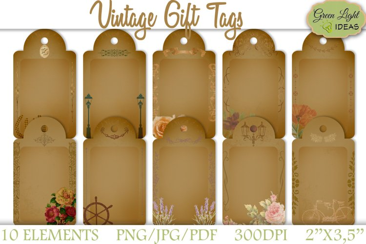 Vintage Gift Tags example image 1