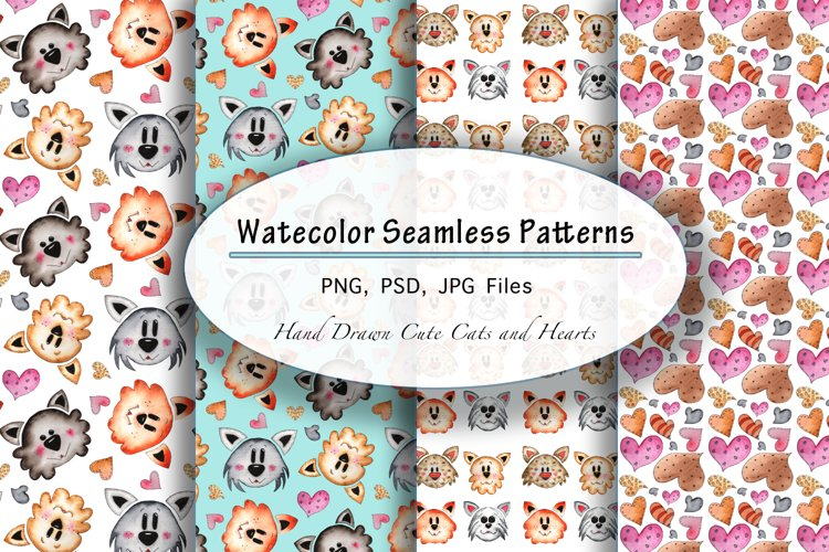 Cute Cats and Hearts example image 1