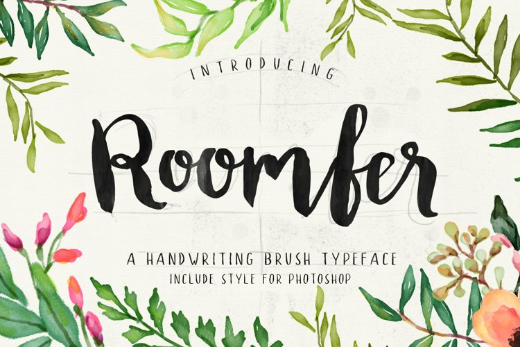 Roomfer font + Style Photoshop example image 1