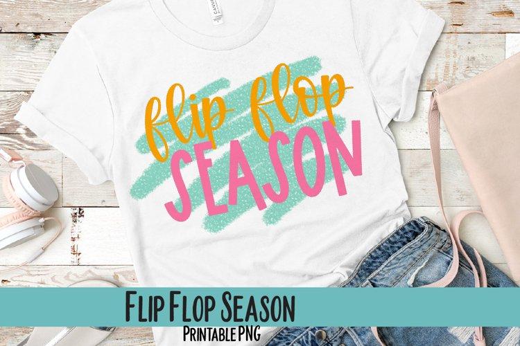 Flip Flop Season Sublimation PNG example image 1