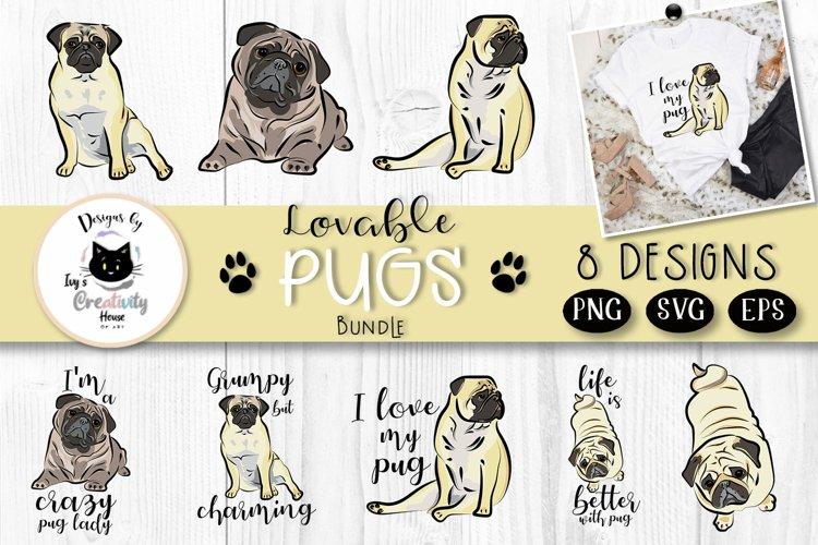 Pug Dog SVG Bundle | Dog Mom Clipart