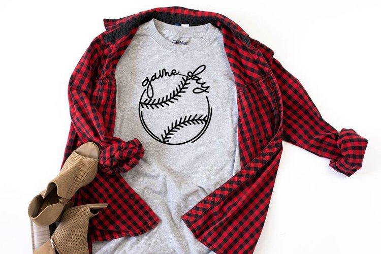 Game Day Baseball Shirt SVG example image 1