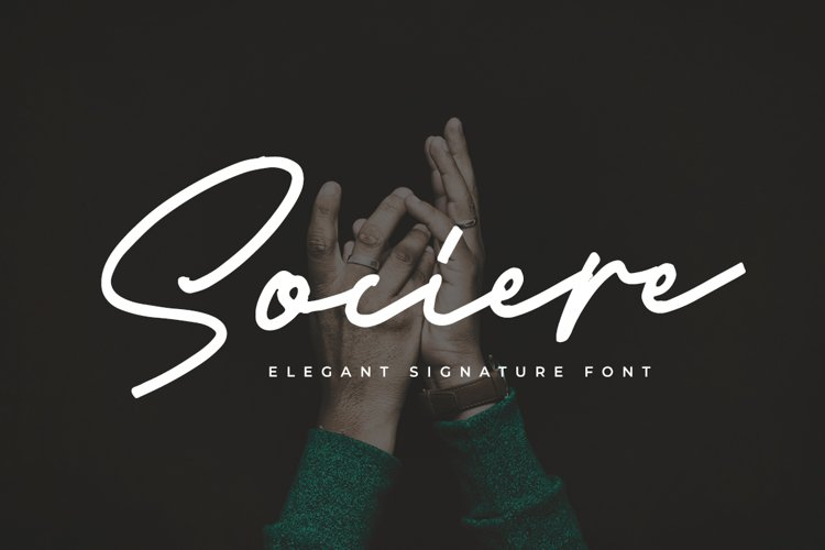 Sociere - Elegant Signature Font example image 1