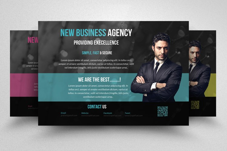 Business Agency Horizontal Flyer example image 1