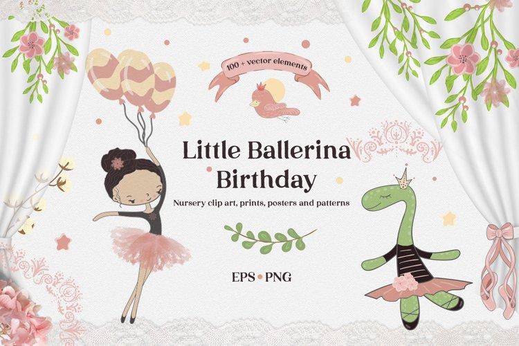 Ballerina clipart Bundle / Birthday girl / Birthday card