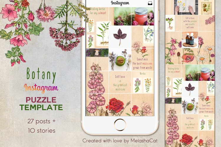 Botany Instagram PUZZLE template plus 10 Instagram stories