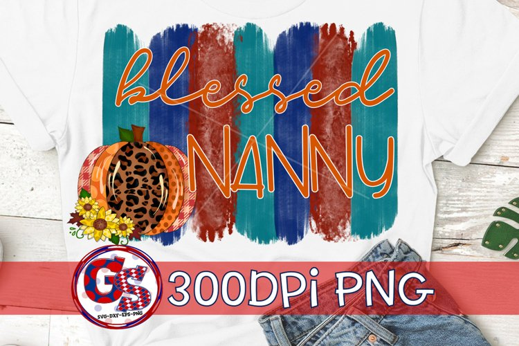 Blessed Nanny PNG for Sublimation | Fall PNG Autumn PNG example image 1