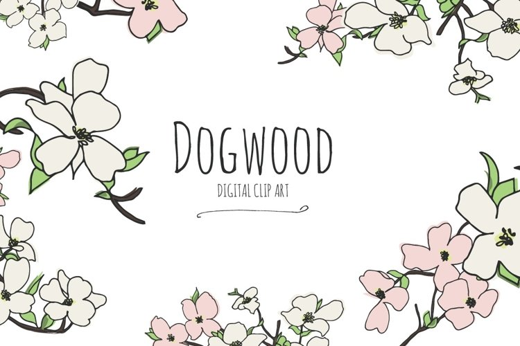 Dogwood - Digital Clip Art example image 1