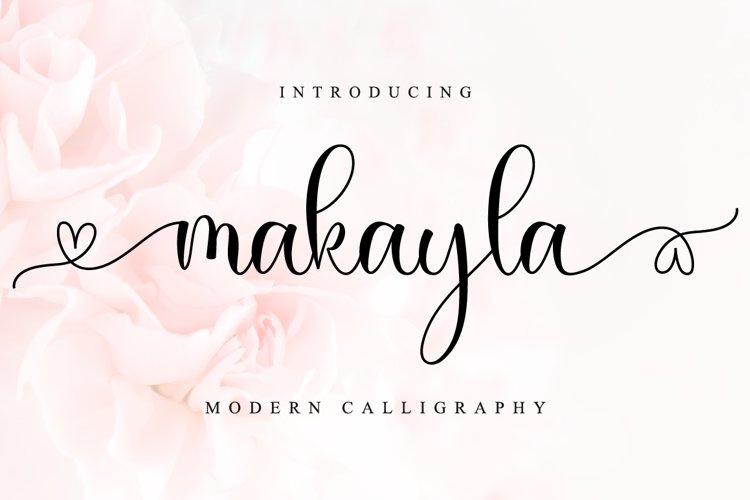 Makayla - Lovely Script Font example image 1