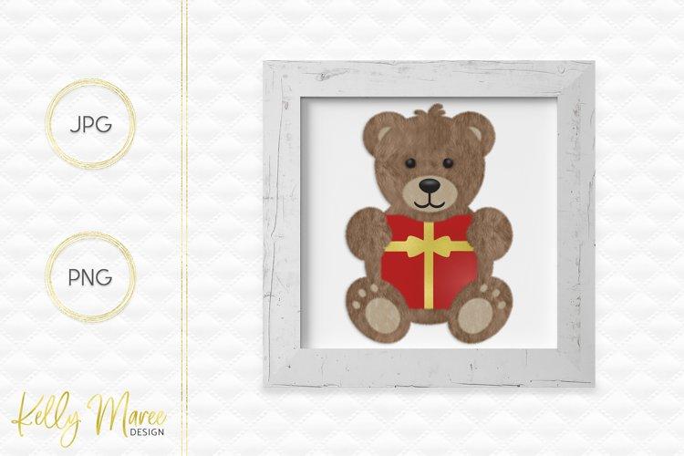 Christmas Teddy Bear Graphic example image 1