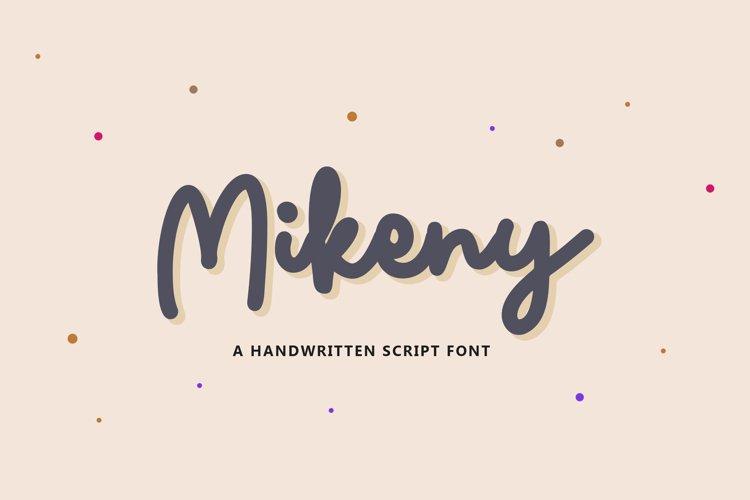 Mikeny - Handwritten Script Font example image 1