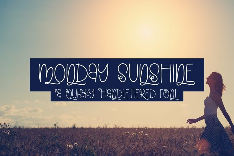 Web Font Monday Sunshine - A Quirky Handlettered Font