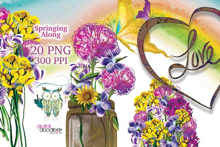 Springing Along Floral Graphics