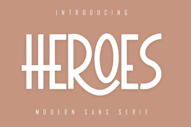 HEROES Sans Serif example image 1