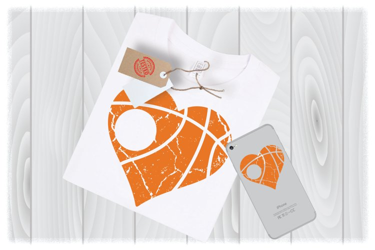 Distressed Basketball SVG Files For Cricut Designs | Sport example image 1