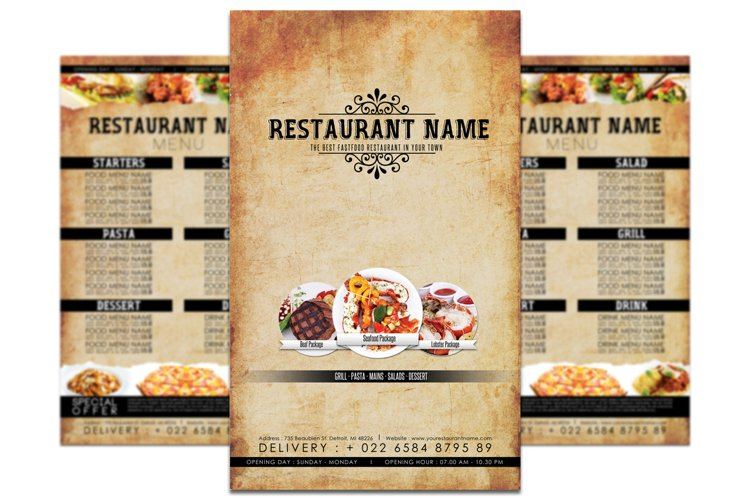Retro Restaurant Menu example image 1