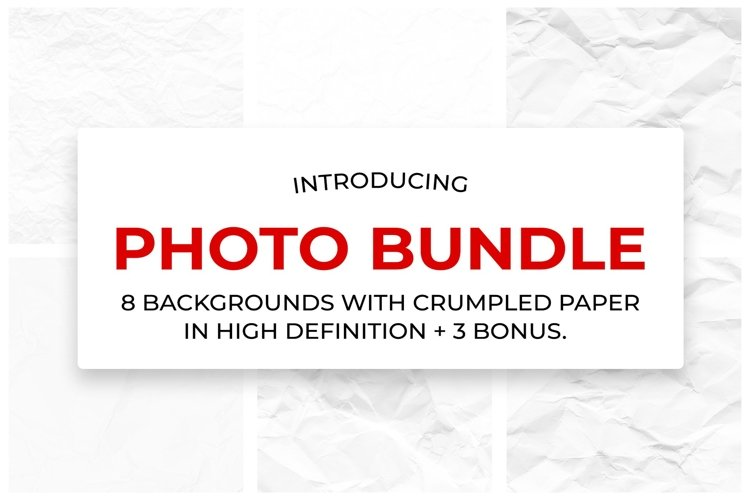 8 backgrounds of crumpled paper in high resolution. example image 1