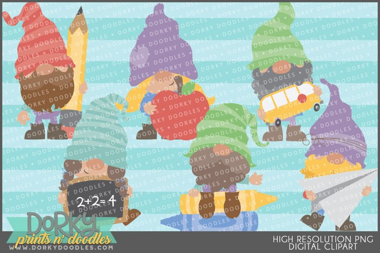 Back to School Gnomes Clipart