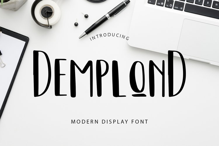DemplonD Display Font example image 1