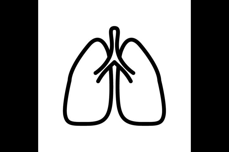 lung symbol line icon, Vector Illustration example image 1
