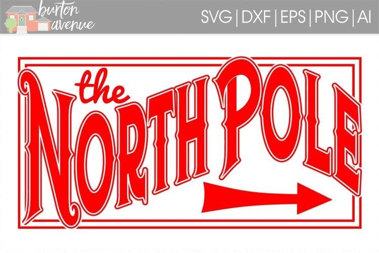 North Pole Christmas SVG File example image 1