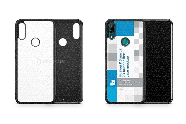Huawei P Smart Z 2019 2d Rubber Flex Case Design Mockup example image 1
