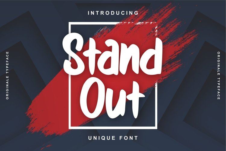 Stand Out | Unique Font example image 1