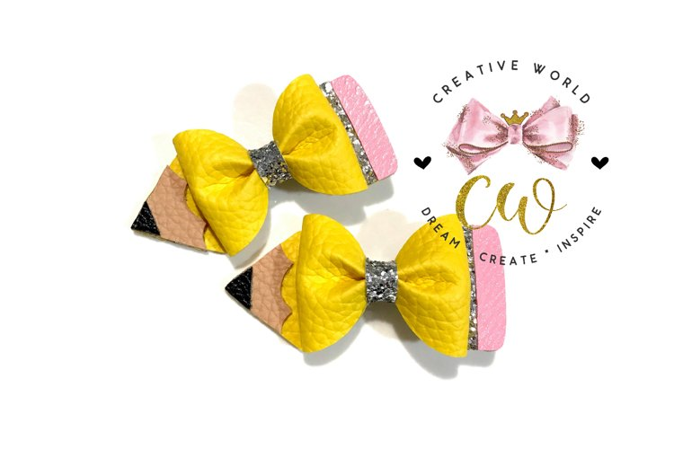Pencil Pinch Bow Digital Template   Pinch Bow Template