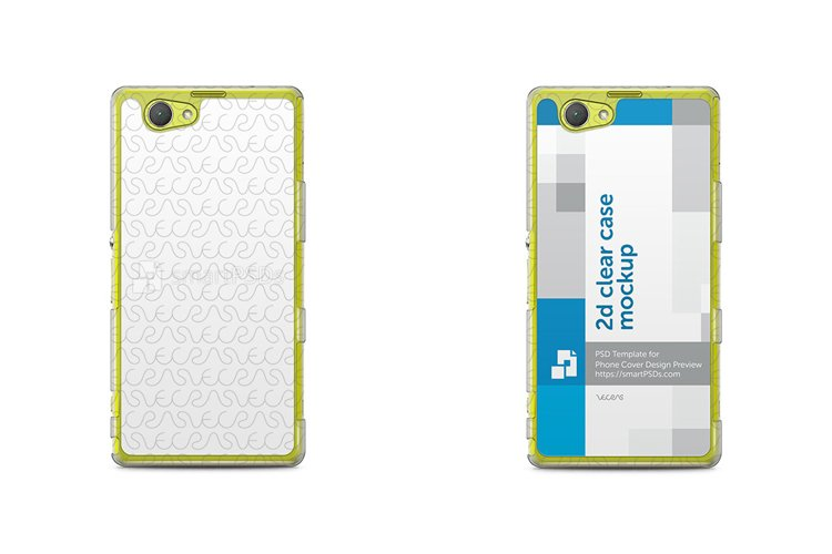 Sony Xperia Z1 Compact 2d Clear Mobile Case Mockup 2014 example image 1