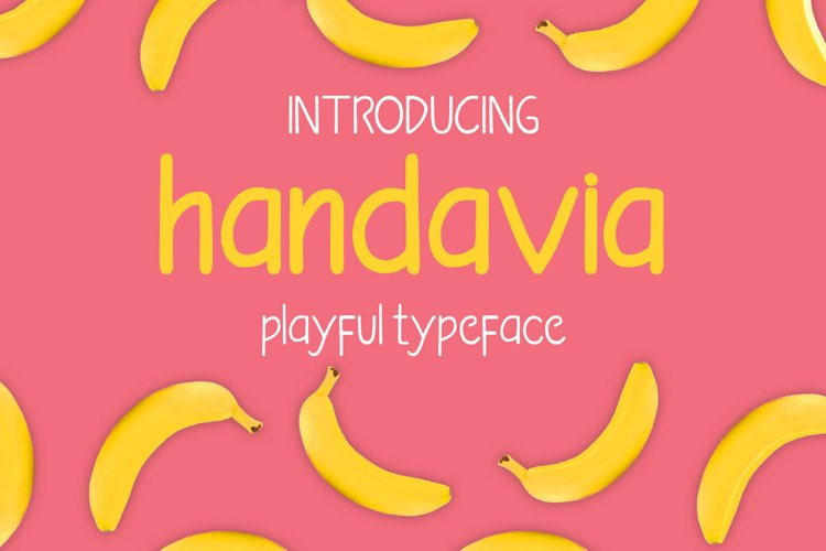 Handavia - handwritten childish font example image 1