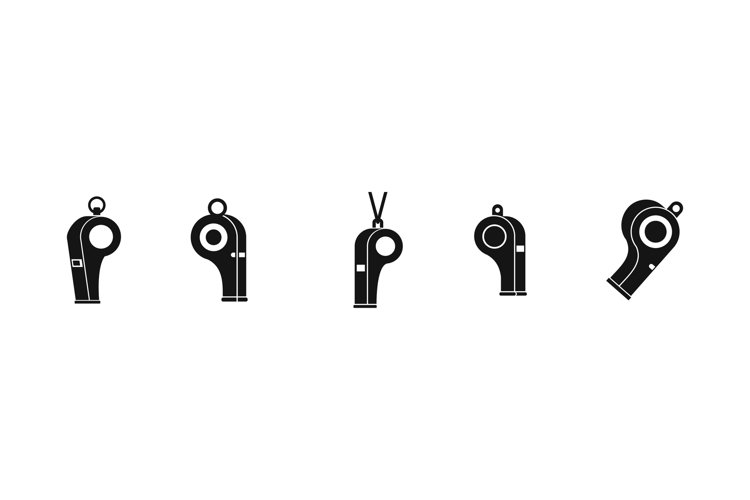 Whistle icon set, simple style example image 1