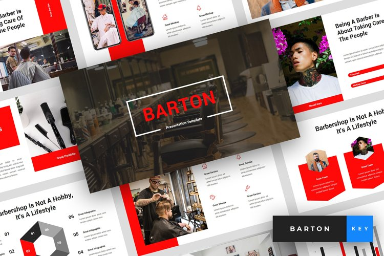 Barton - Barbershop Keynote Template example image 1