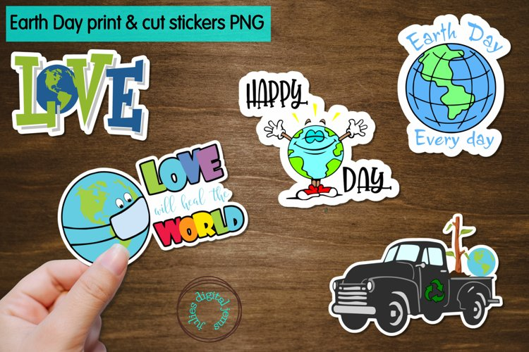 Earth Day Printable Stickers