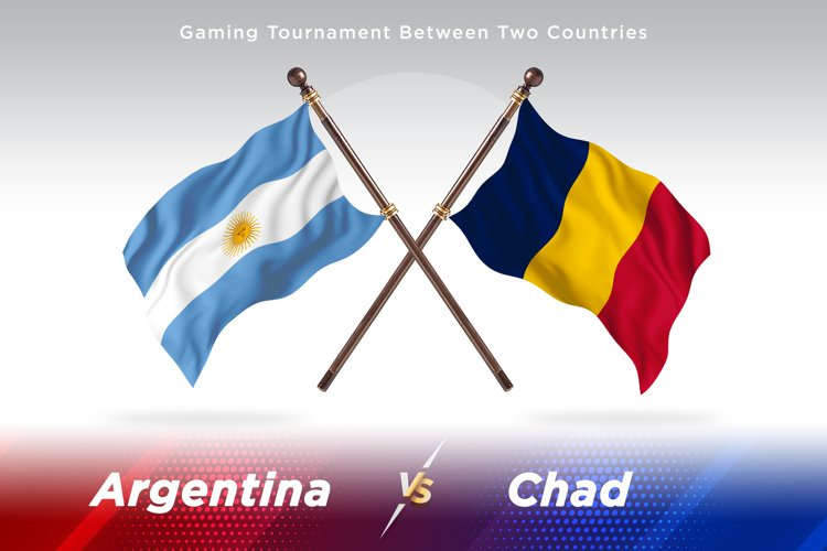 Argentina vs Chad Two Flags example image 1