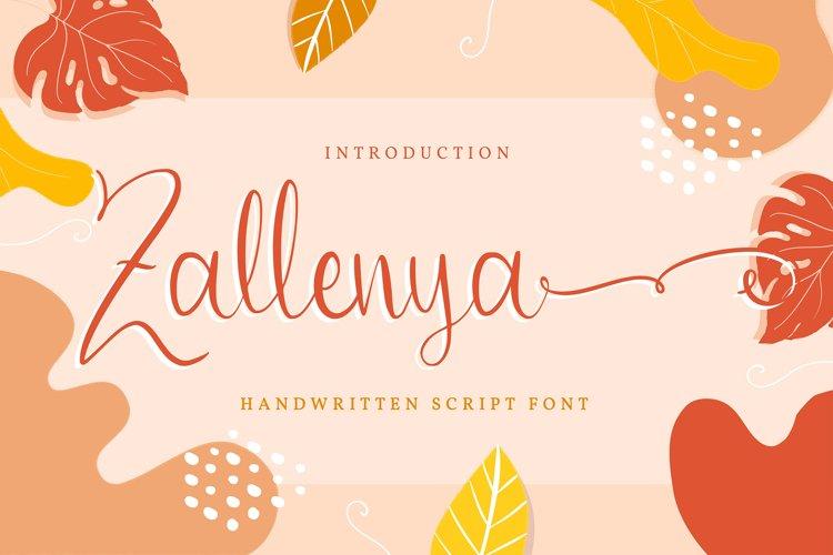 Zallenya   Handwritten Script Font example image 1