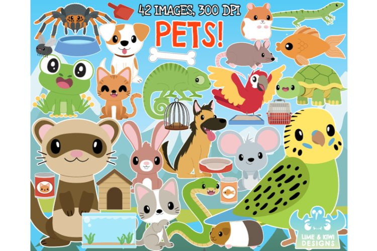 Pets Clipart - Lime and Kiwi Designs
